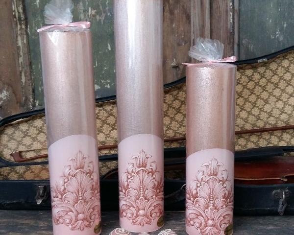 Erinevates toonides küünlaid pulmadeks!